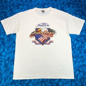 Vintage 90s newLife Proud To Be An American Shirt
